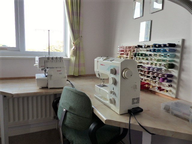 Sewing room machine table