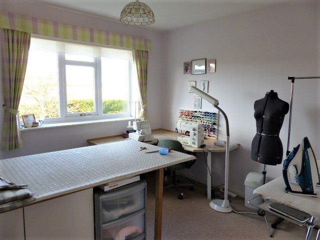 Sewing room view from doorway