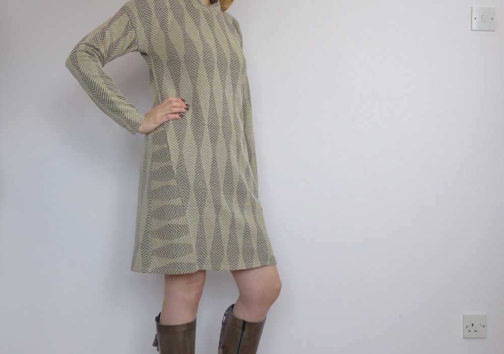 Lekala patterns sweater dress.
