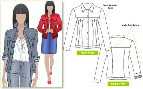 Exploring Spring/Summer trends The Stacie Jacket by Style Arc