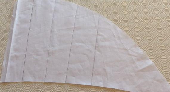 Muslin for Tartan flared skirt