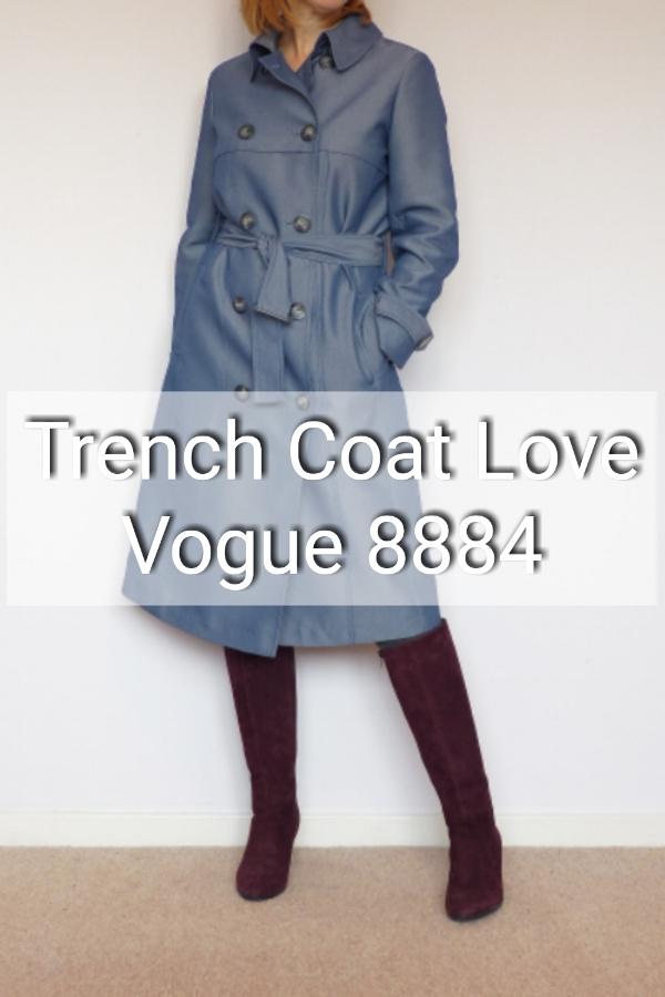 Trench coat love. Vogue 8884