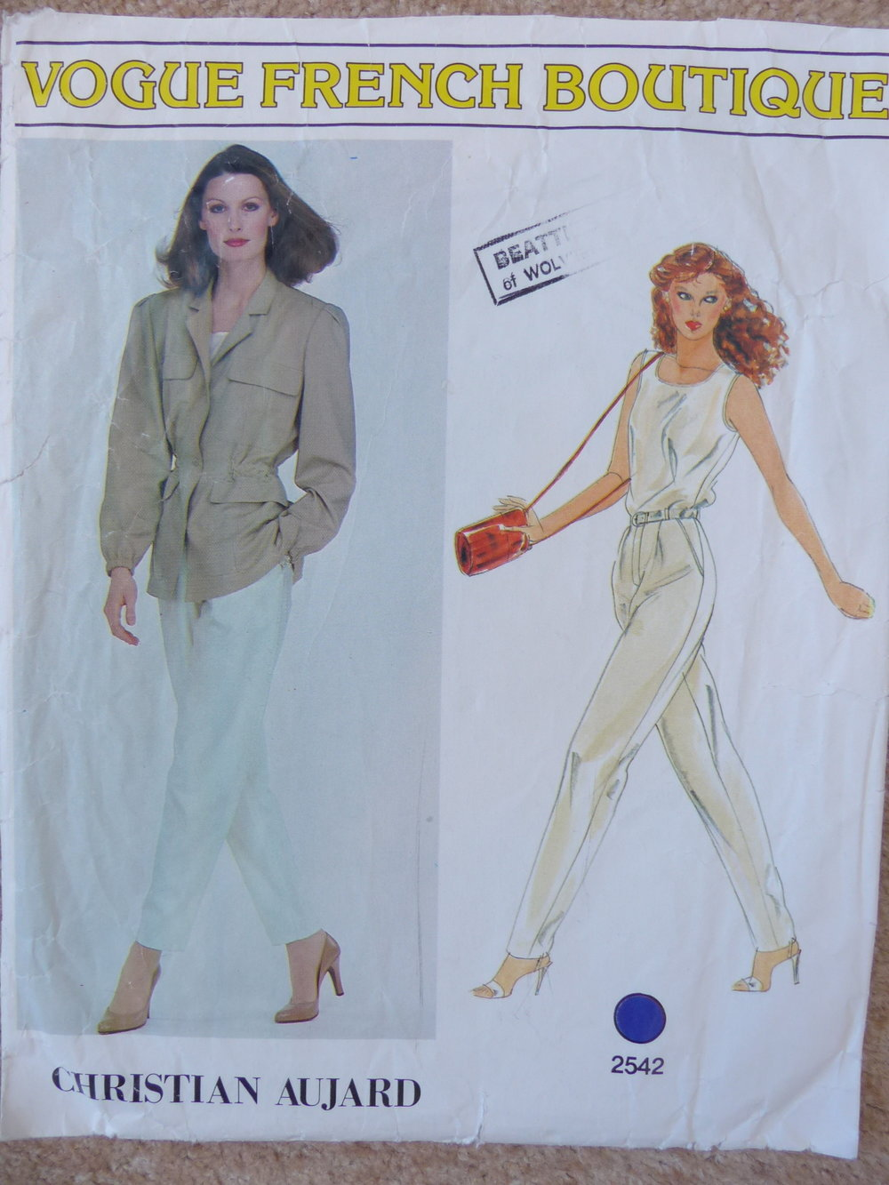 Spring jacket Vintage Vogue pattern