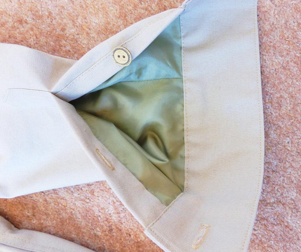 Spring jacket Cuff detail