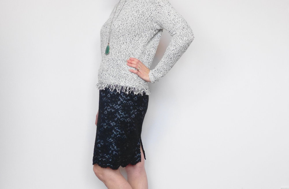 Easy lace skirt