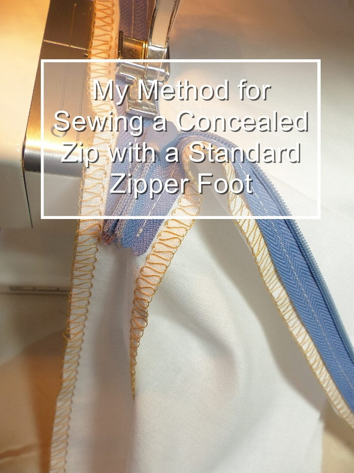 Concealed zip method