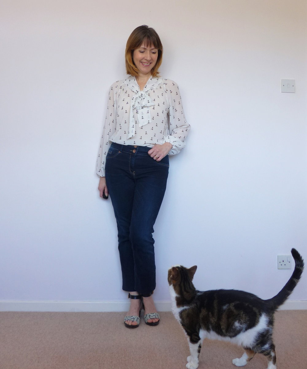 Georgette pussy bow blouse Simplicity 2406