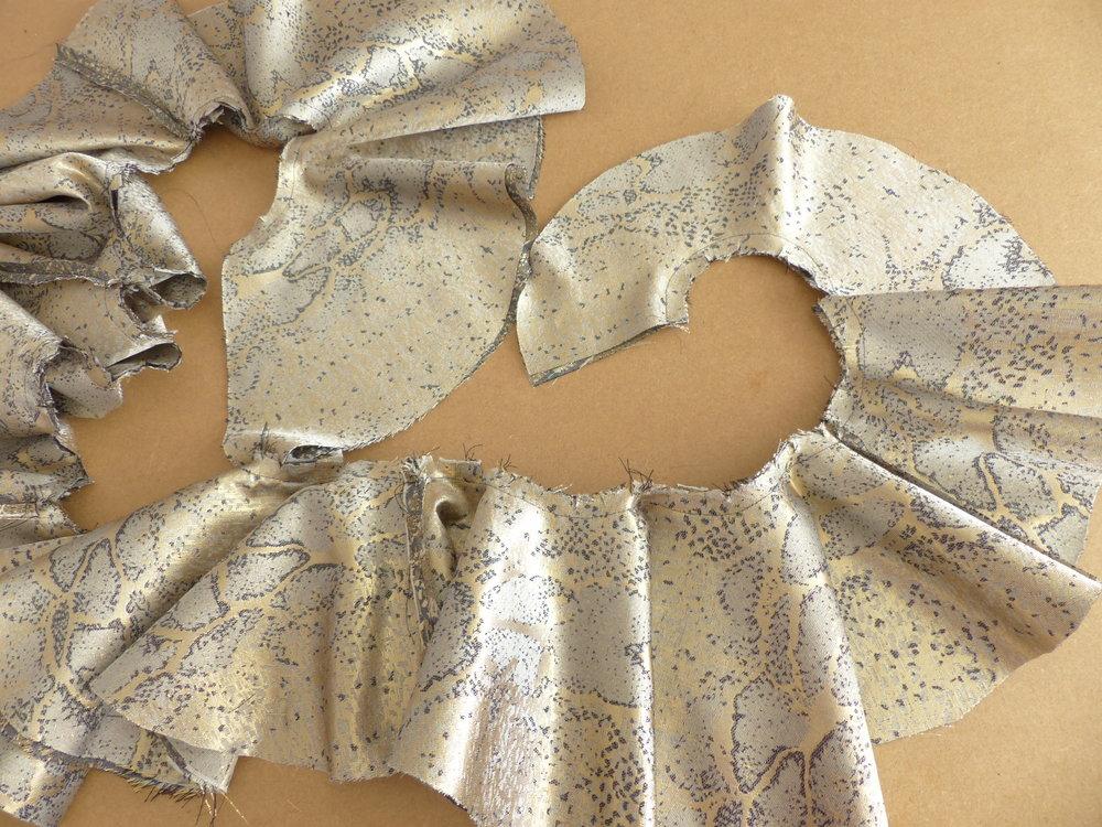 An evening dress fit for a ball Ruffle feature