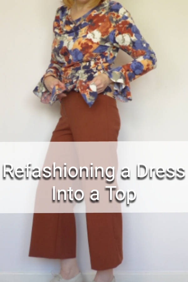 Re-fashioning a dress into a top