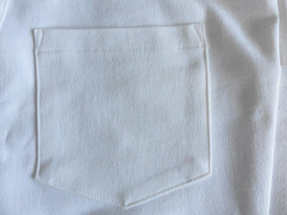 Jeans with a bulk-free pocket method. Back pocket