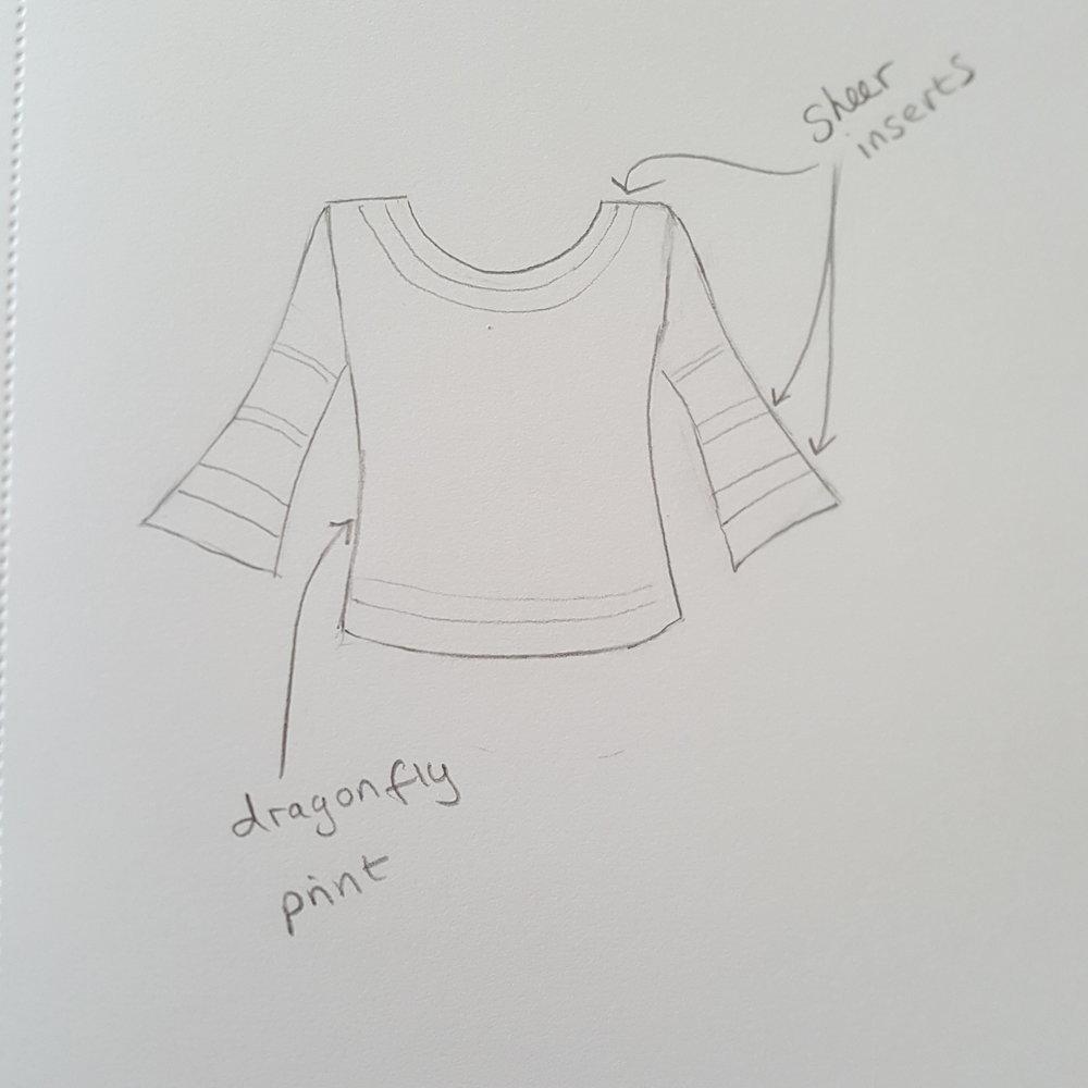 Bell sleeved top