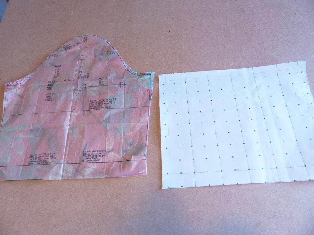 Bell sleeved top pattern preparation