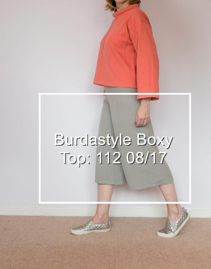 Burda Style boxy top: 112 08/17