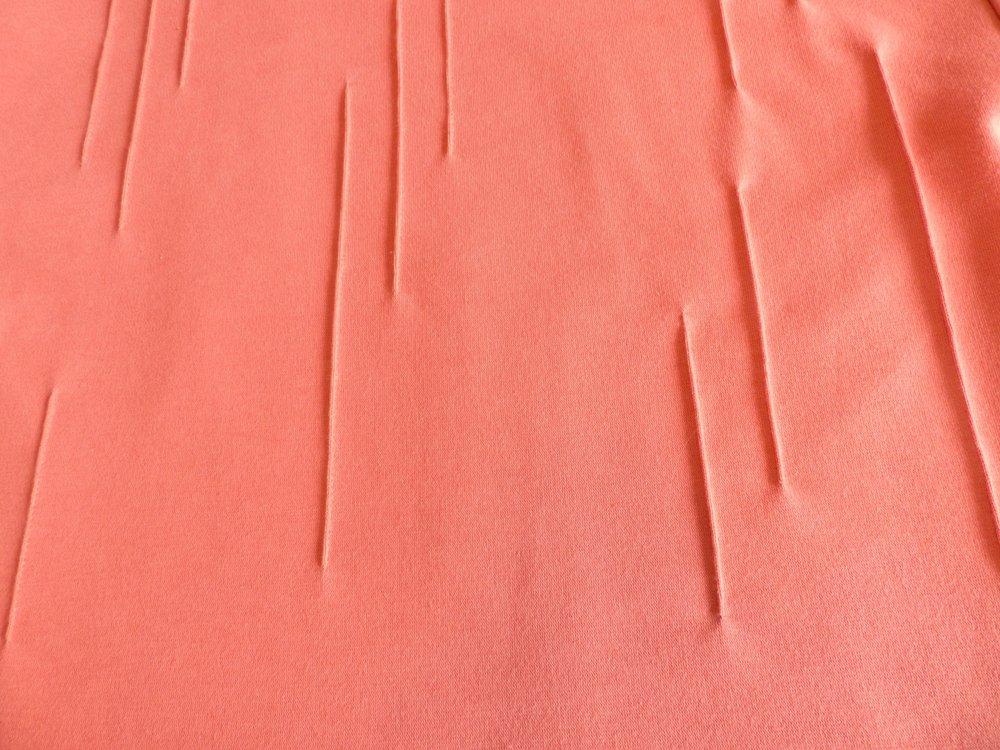 Burda Style boxy top: 112 08/17 tuck detail