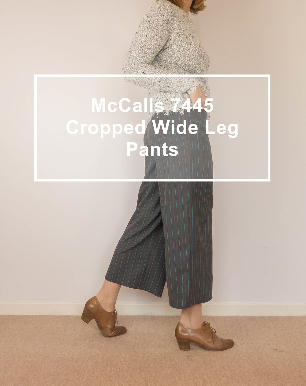 McCalls 7445 cropped wide leg pants