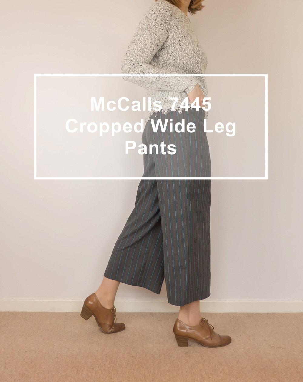 McCalls 7445 cropped wide leg pants