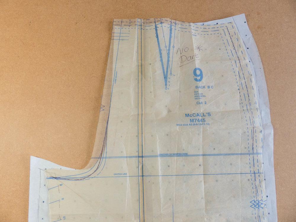 McCalls 7445 cropped wide leg pants. Pattern adjustment.