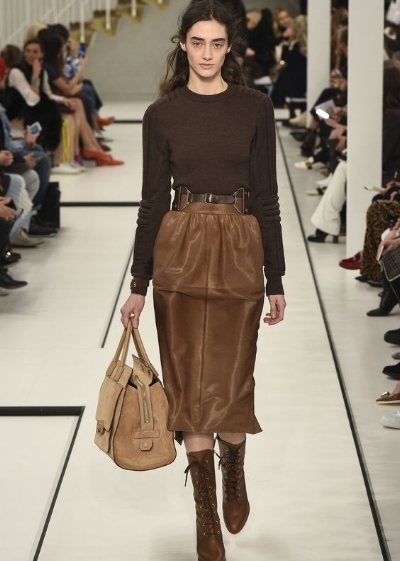 Tod's: Earthy brown, belted waist definition