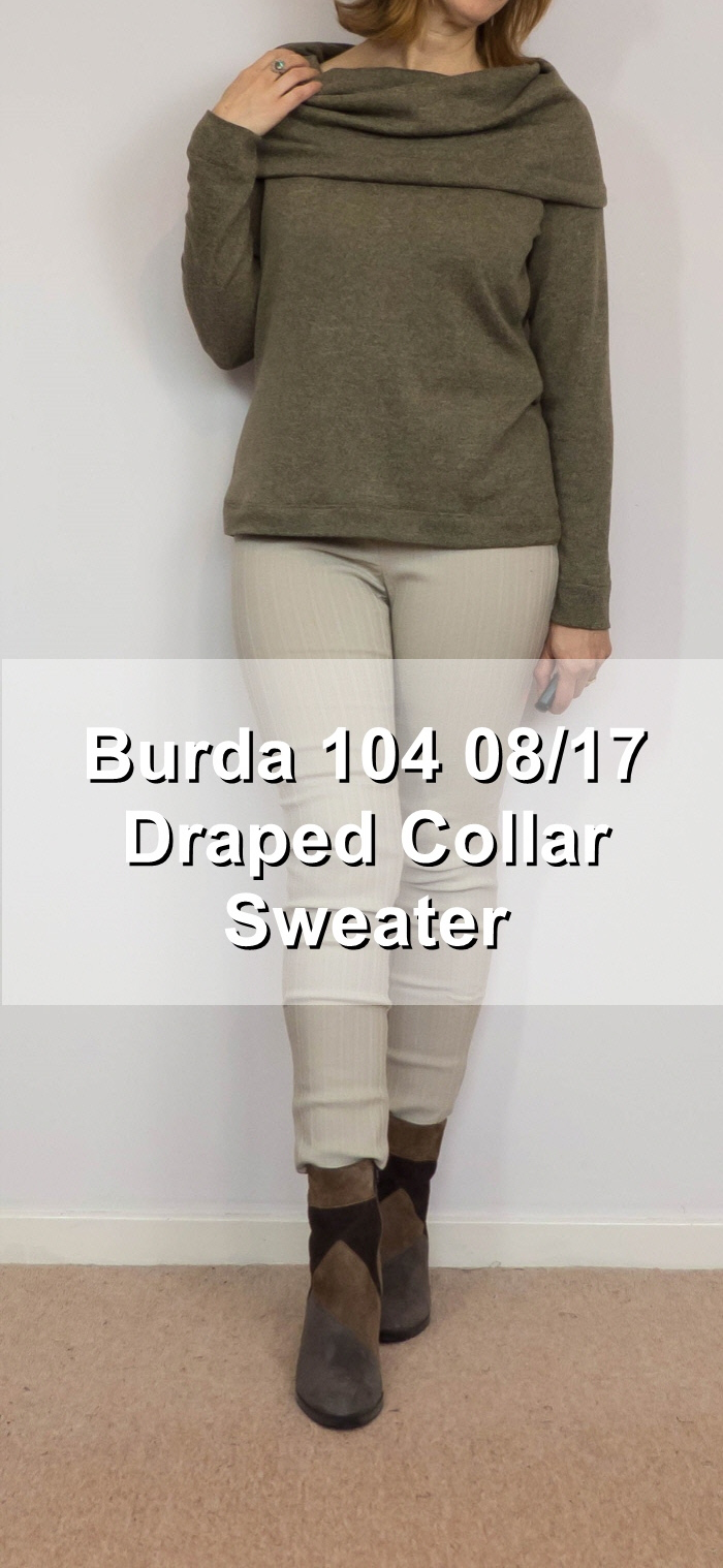 Burda 104 08/17 draped collar sweater