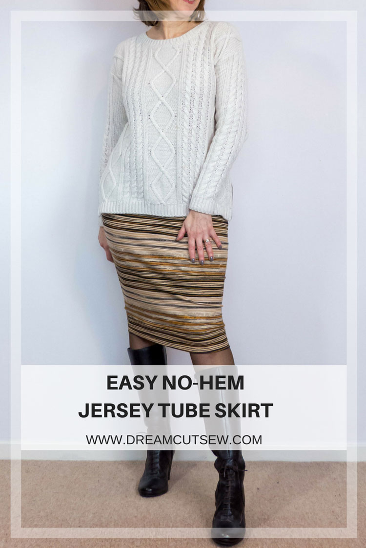 Easy No-Hem Jersey Tube Skirt