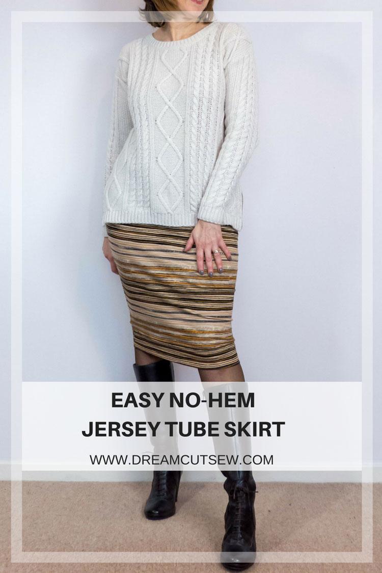 Easy No-Hem Jersey Tube Skirt