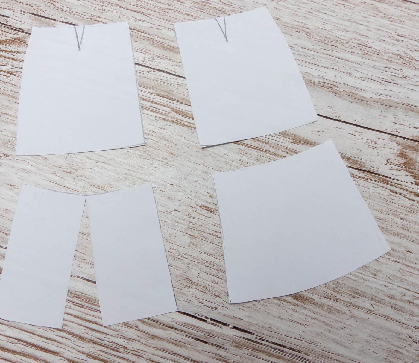 Faux Suede Skirt Pattern preparation