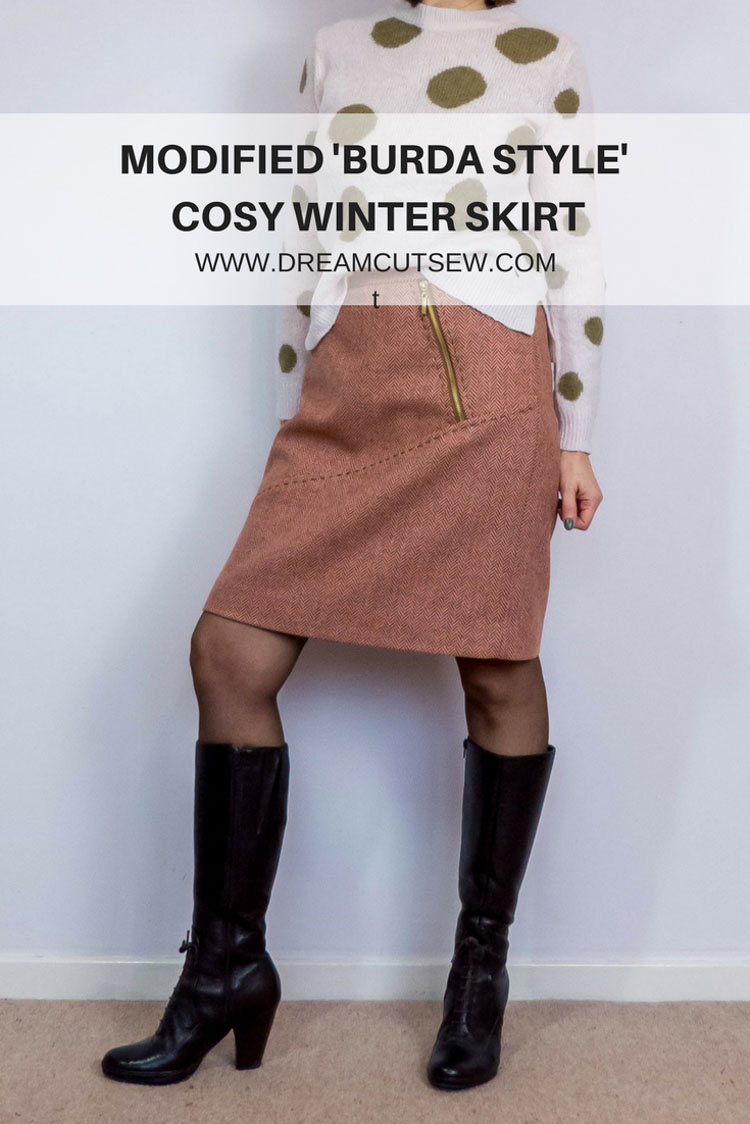 Modified Burda Style Cosy Winter skirt