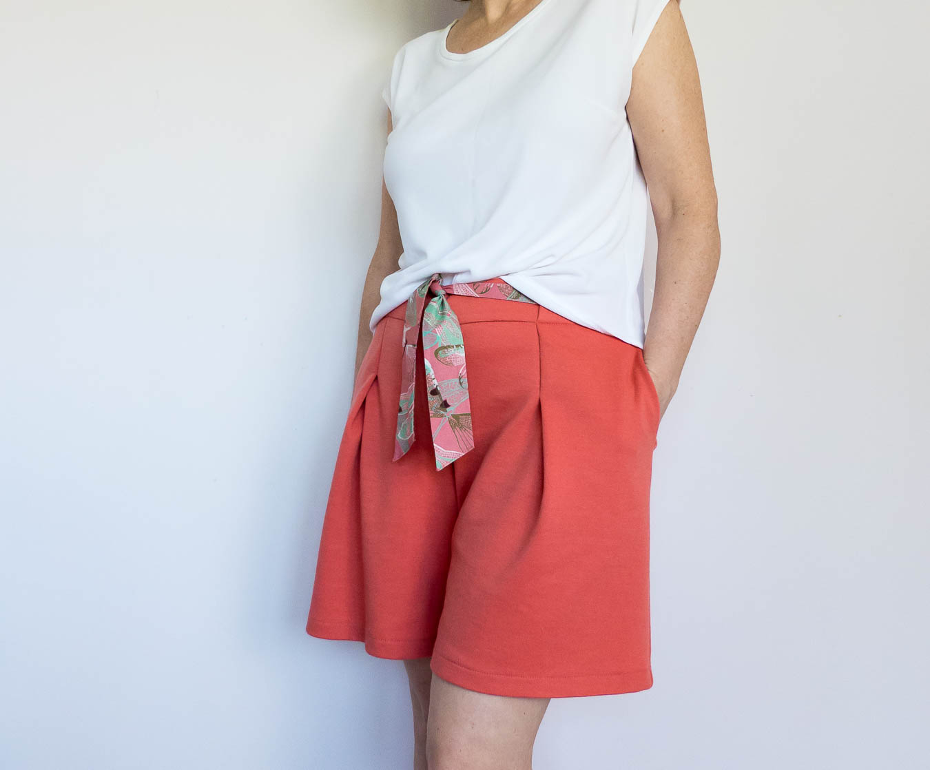 Burda Style Shorts with tie waist detail