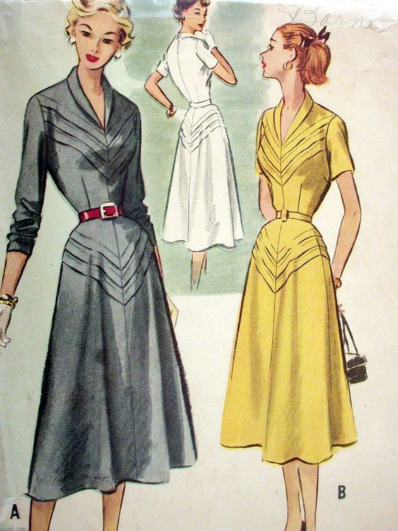 10 ideas using sewing tuck details. Vintage McCalls