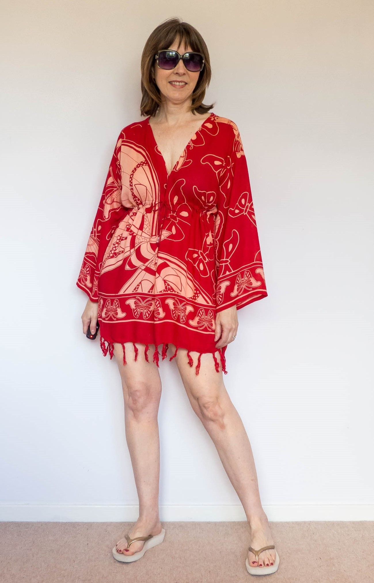 DIY Beach Kaftan Using a Sarong