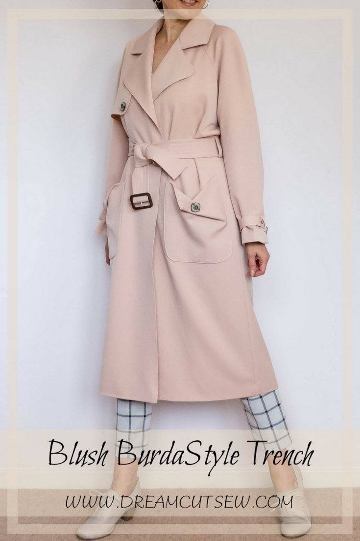 Blush Trench by BurdaStyle