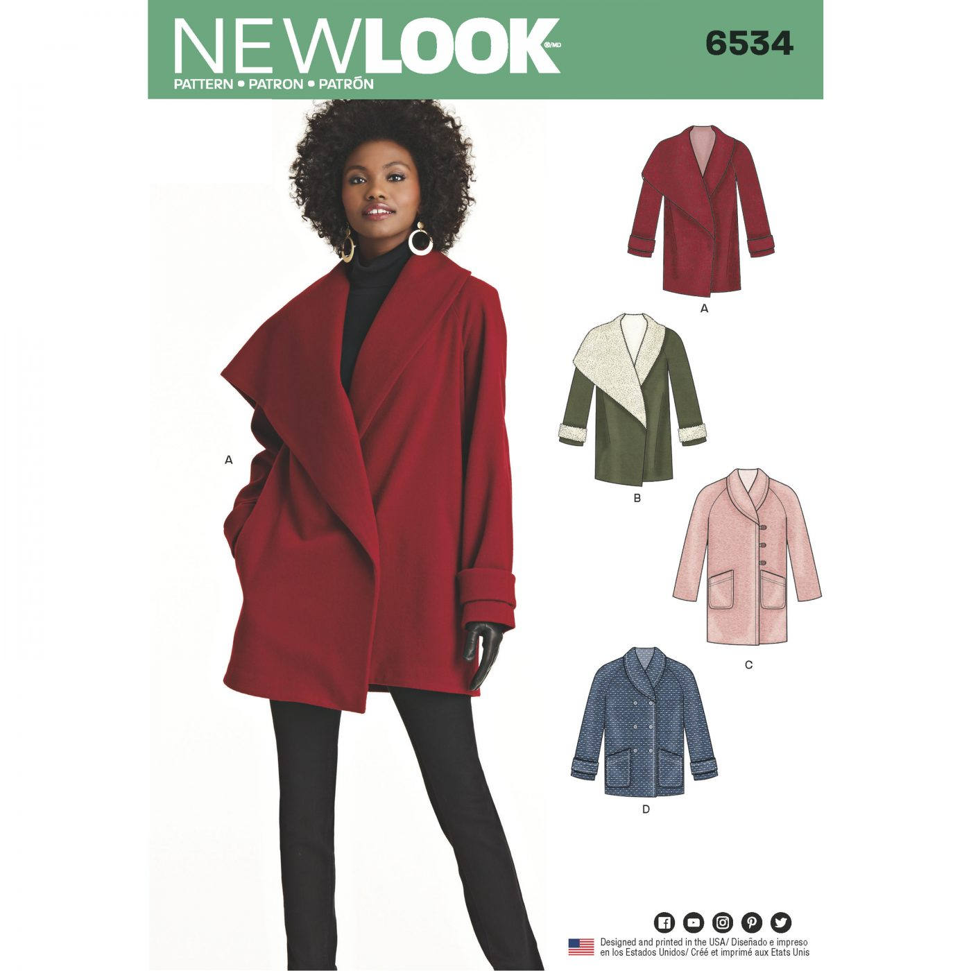 New Look 6534 Autumn/Winter '18 Trends to inspire your sewing