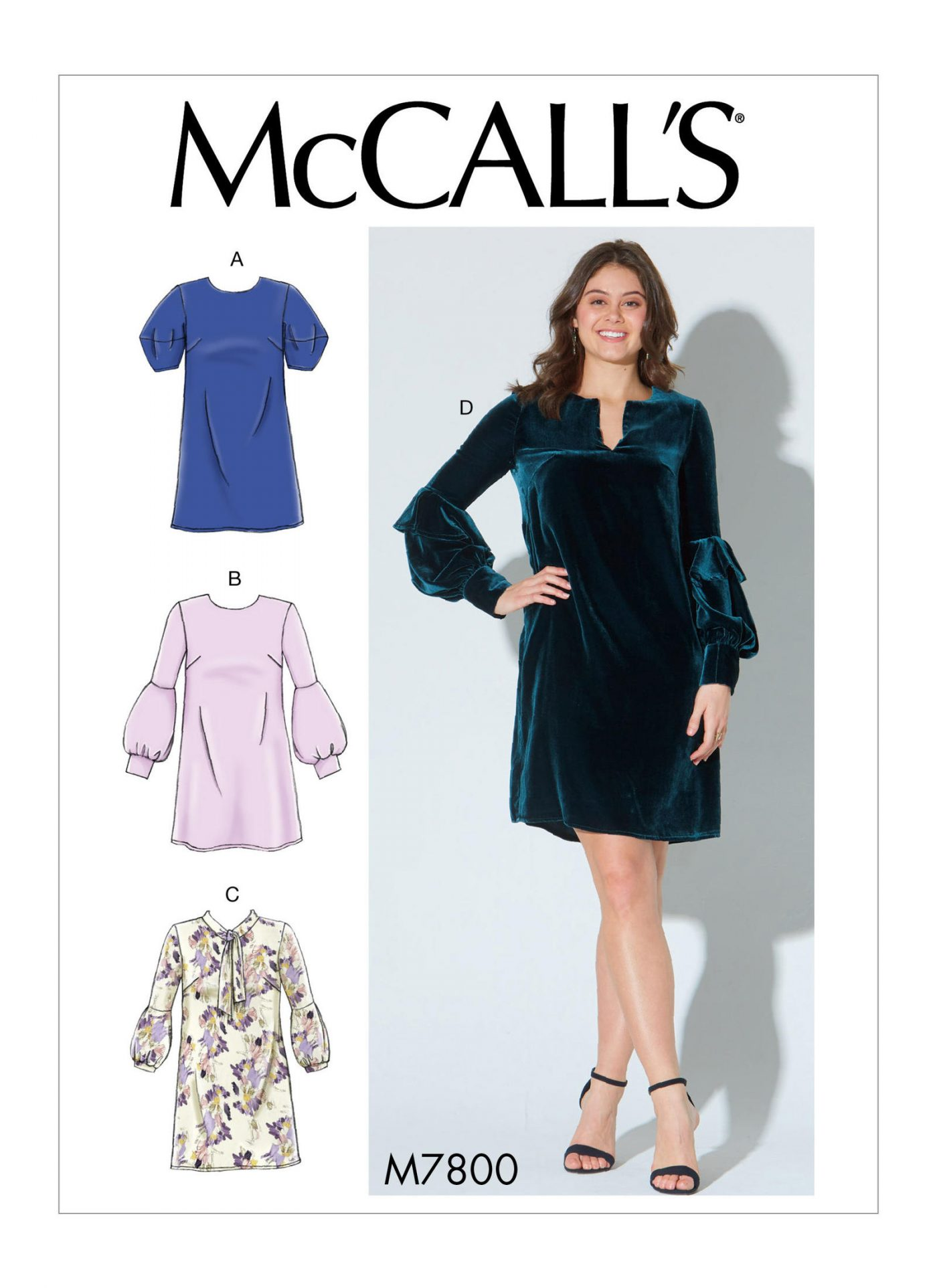 McCalls 7800. Autumn/Winter '18 Trends to inspire your sewing