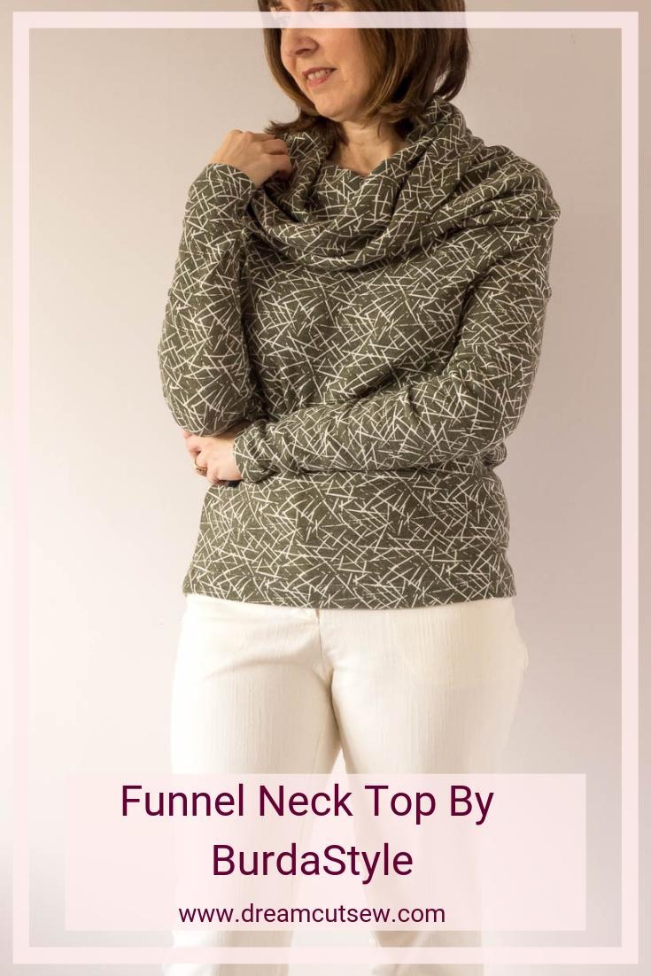 Funnel Neck Top By BurdaStyle