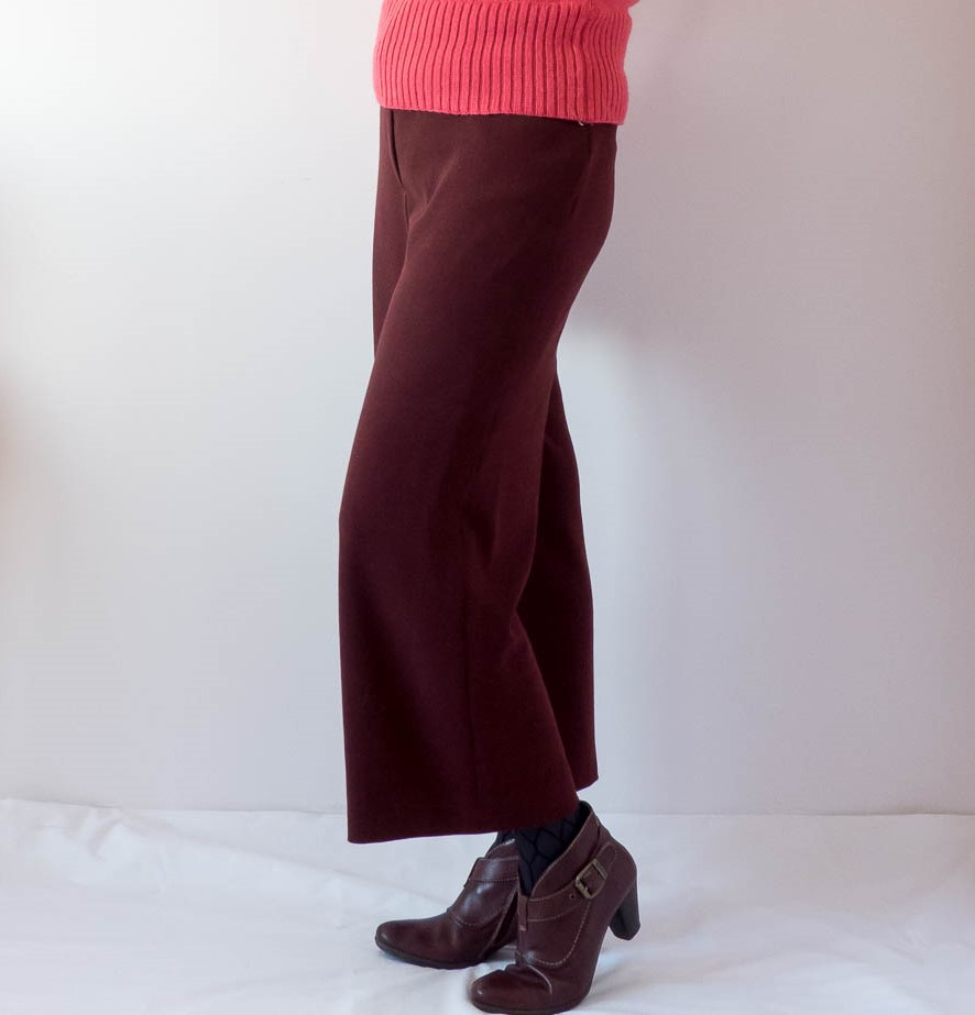 McCalls 7445 wide leg crops modified with a half lining