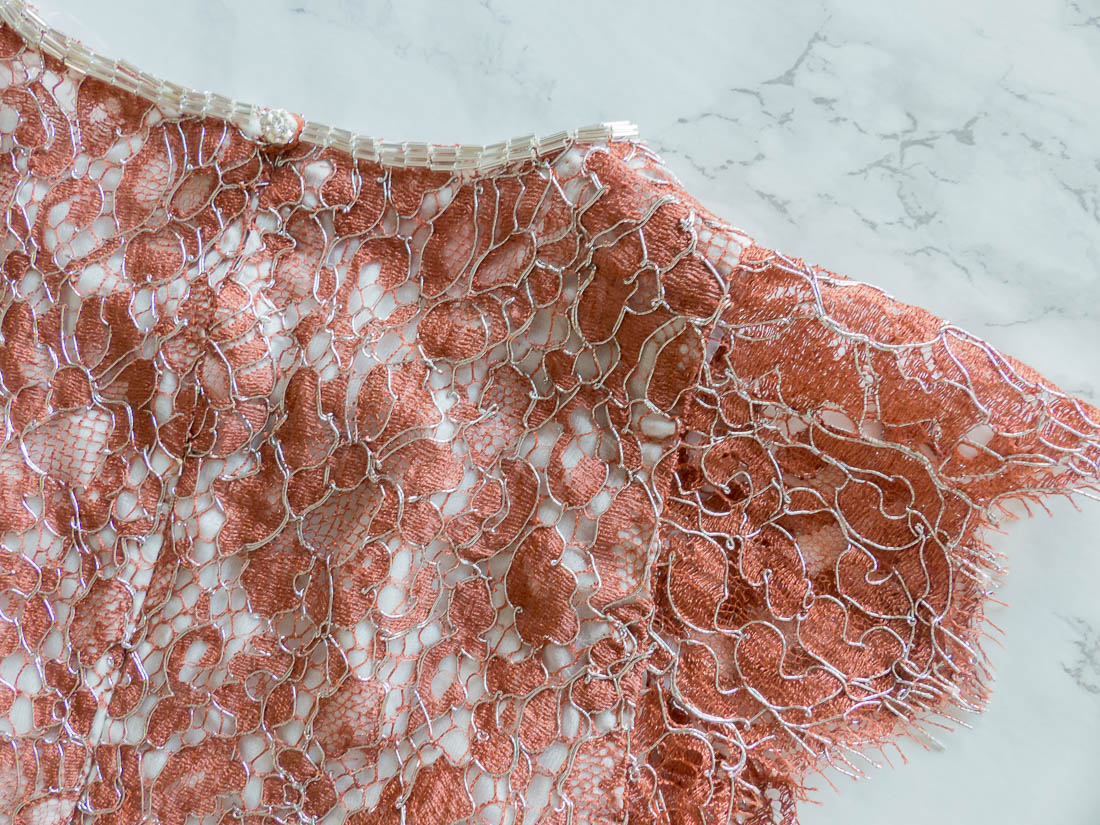 Couture lace top using McCalls 7540