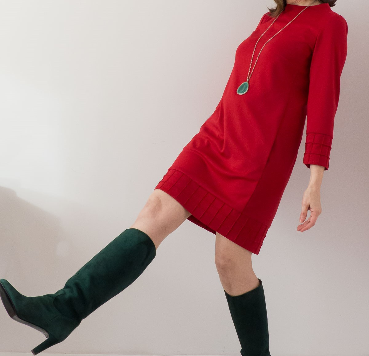 Sweater Shift Dress With a 60's Style