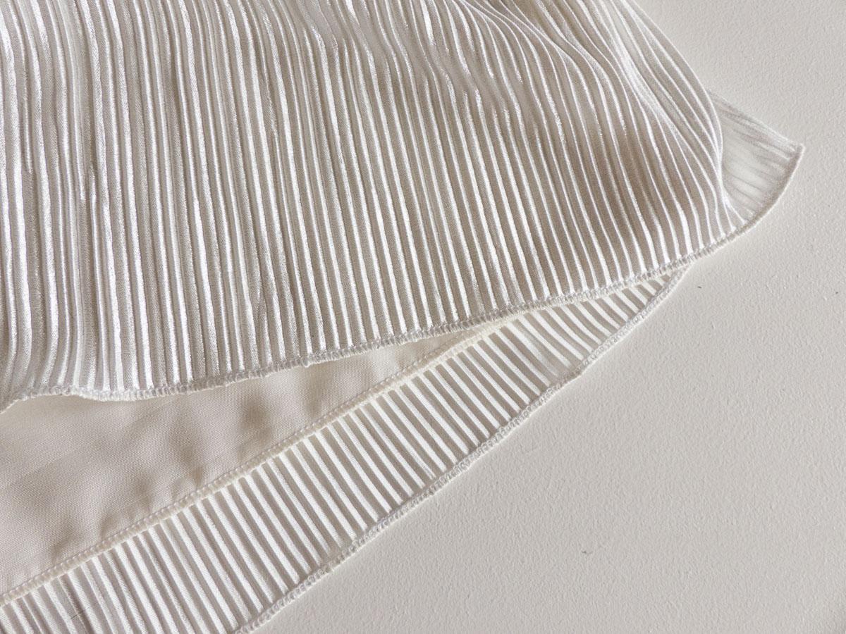 Palazzo Pants using Vogue 8866. Roll hem close up
