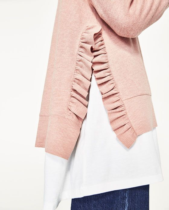 Zara Sweater: 8 inspiring Ways With Ruffles And Flounces