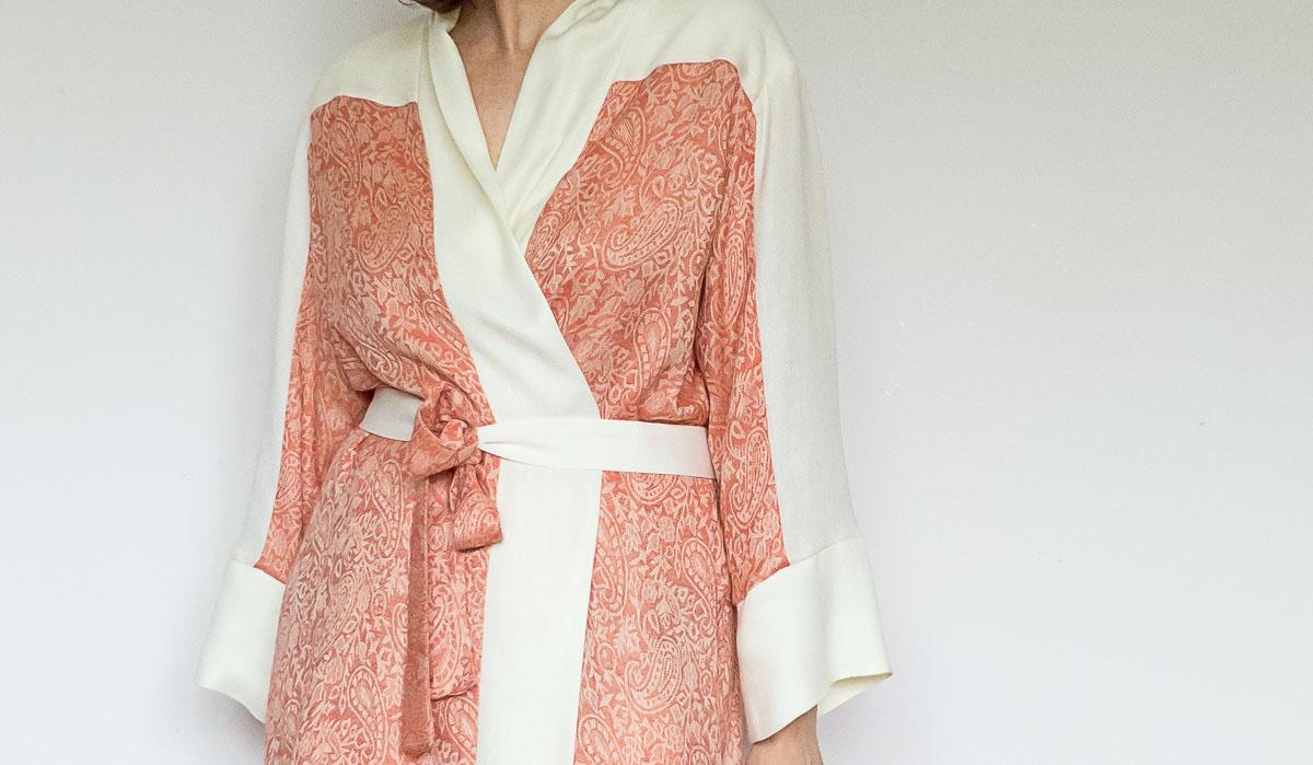 DIY Kimono Robe Using Two Scarves