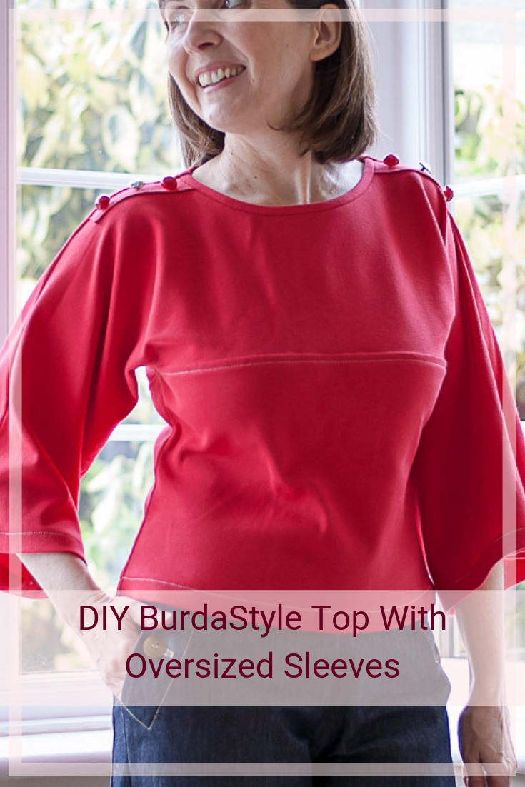 "DIY BurdaStyle Top With Oversized Sleeves"" is locked DIY BurdaStyle Top With Oversized Sleeves"