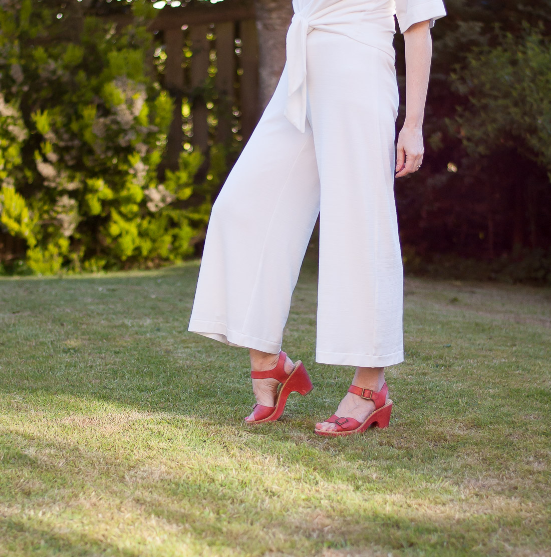 Cropped Jersey Wide-Leg Pants Using Simplicity 1071