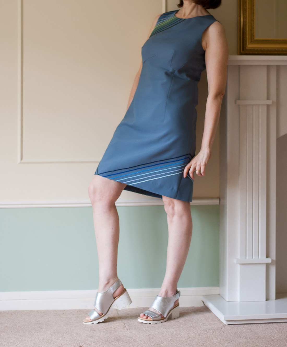 DIY '60s Style dress Using Vogue 1809