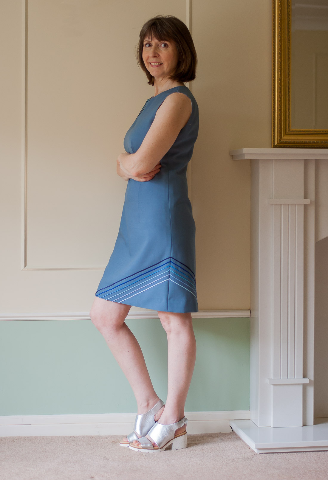 60s Style dress Using Vogue 1809