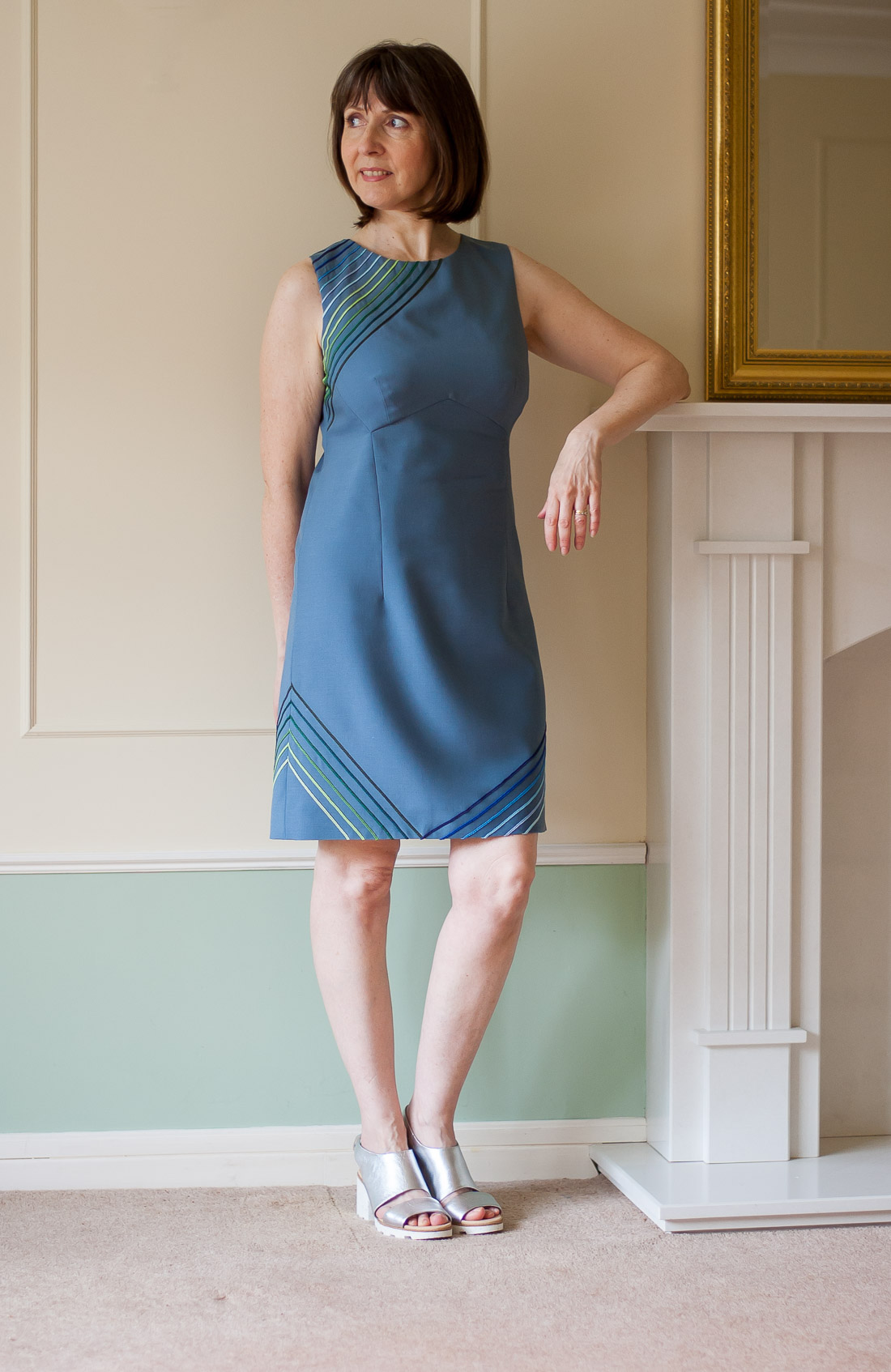 DIY 60s style dress using Vogue 1809