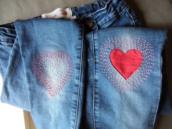 mending using embroidery