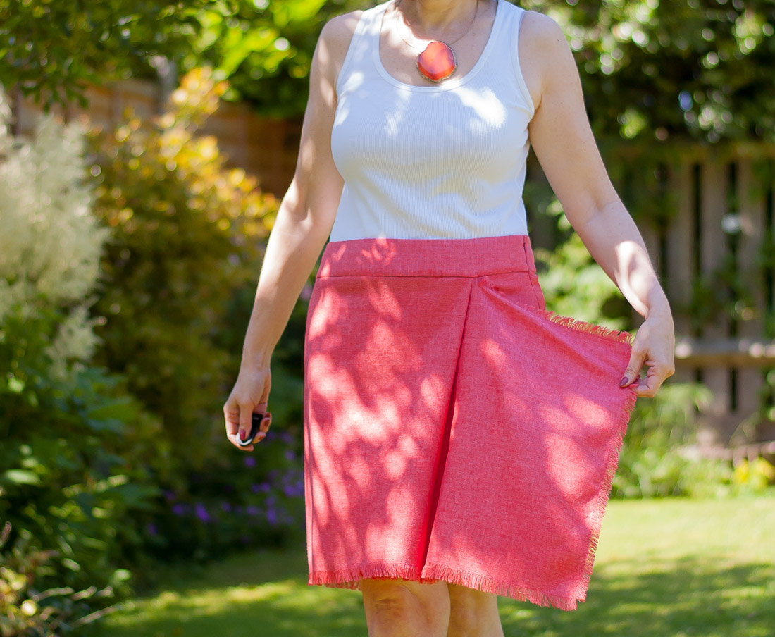 Tutorial for wrap skirt with drape detail
