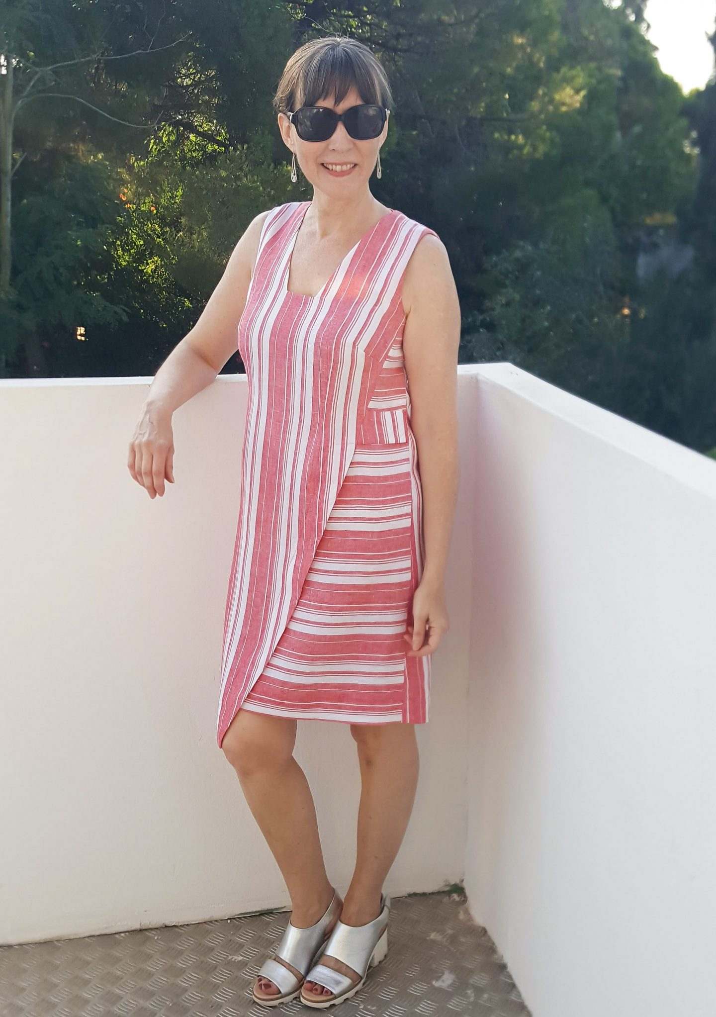 DIY Striped Linen Dress