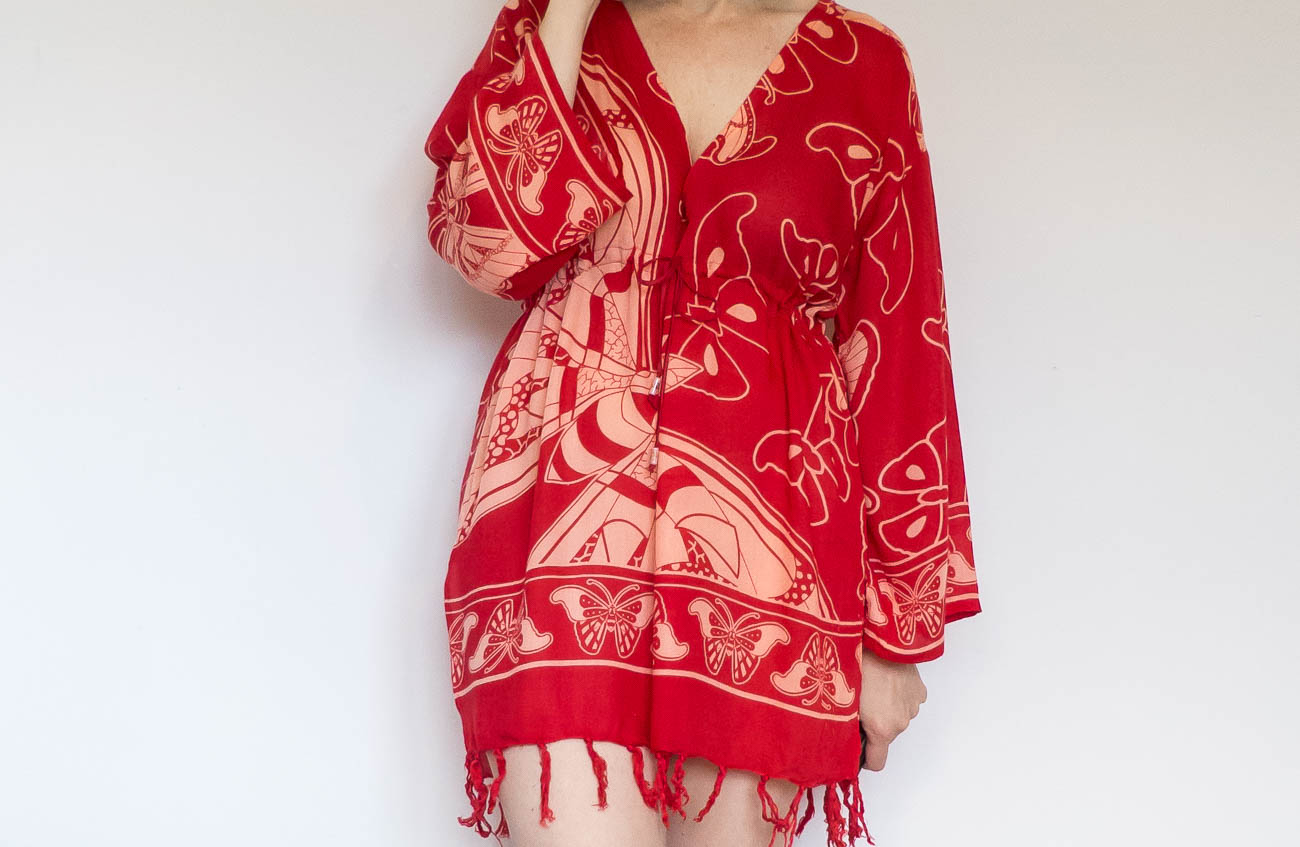 Kaftan made from a sarong