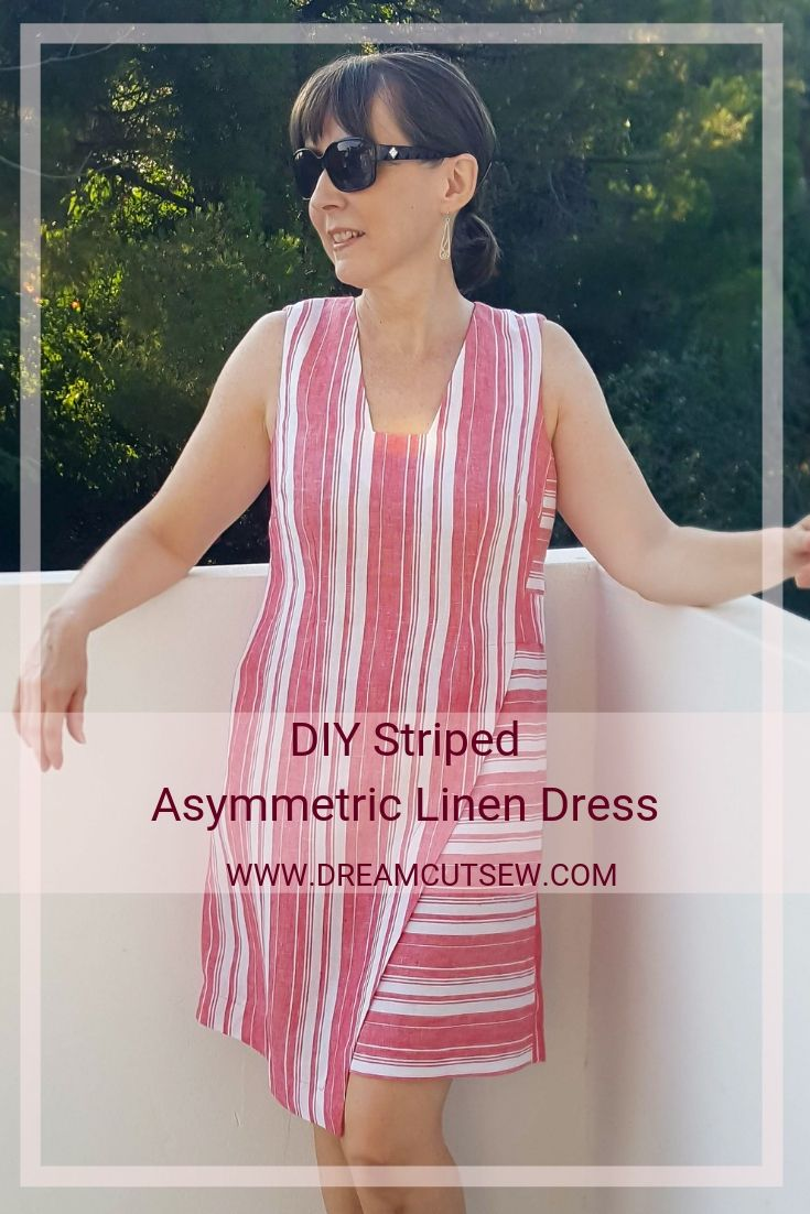 DIY Asymmetric Linen Dress